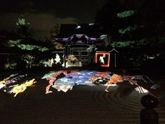 九条@狐は何処 @kj_tulv9  2015年10月30日 とりあえずこれだけ言わせて欲しい 高台寺の夜間特別拝観、百鬼夜行プロジェクションマッピング本当に素晴らしいです 12/13までやってるんでそれまでに京都行く予定ある人は絶対見て欲しい…写真じゃ伝わらないけど本当すごい…