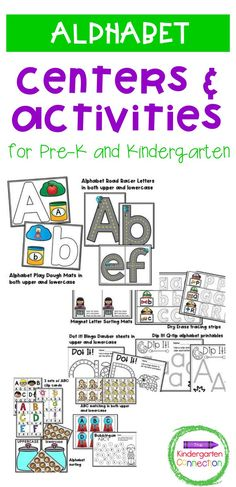 These alphabet centers are perfect for teaching letter identification to Pre-K and Kindergarten students. If you are looking for hands-on and engaging alphabet activities for your classroom - these are for you! This pack is NOT themed and can be used ANY TIME of year in your literacy centers! Alphabet Activities Kindergarten, Letter Sorting, Letter Identification, Teaching The Alphabet, Writing Practice, Literacy Centers, Lower Case Letters, Classroom, Lettering