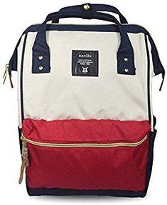 29c2e31fd5 Amazon.com: Japan Anello Oxford Unisex Daypack Backpack School Book Bag  (Black): Sports & Outdoors