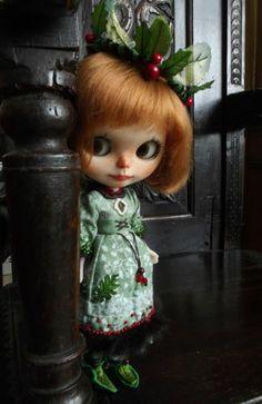 Custom Ooak Christmas Blythe Doll Holly BY Meme G | eBay