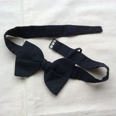 Vintage bow tie Mid Century Arko black tie, E Roberts Ltd, Cardiff. by coolclobber on Etsy