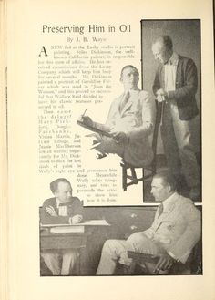 From Nov 1917 Wallace Reid learning how to paint, something different