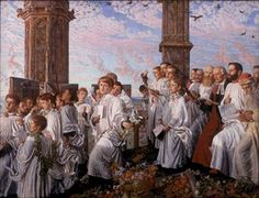 'May Morning on Magdalen Tower ', 1890 - Lady Lever Art Gallery, Liverpool museums