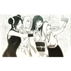 Naruto the last- Naruto and Hinata's wedding. Hinata, Sakura, Tenten, and Ino