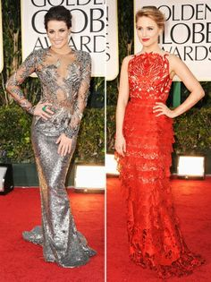 Golden Globes Fashion: 'Glee' stars Lea Michele and Dianna Agron's Sheer Madness (Poll)