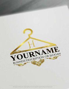 fashion logo Make online Hanger Logo Maker, Design your own logo with our free logo creator. Create a Logo with our Free Fashion Logo Maker. Online Logo Creator, Free Logo Creator, Name Creator, Boutique Logo, Shop Logo, Logo Online Shop, Ideas Para Logos, Logo Branding, Mode Logos