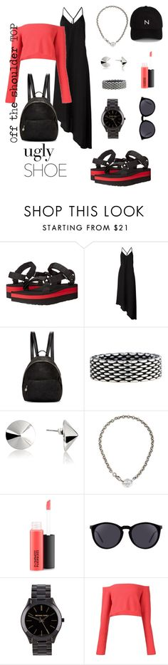 """B&R"" by lomozui ❤ liked on Polyvore featuring Teva, Nostra Santissima, STELLA McCARTNEY, Tiffany & Co., Vélizance, MAC Cosmetics, Yves Saint Laurent, Michael Kors, Baja East and New Black"
