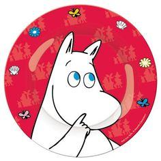 Moomin Plate Red