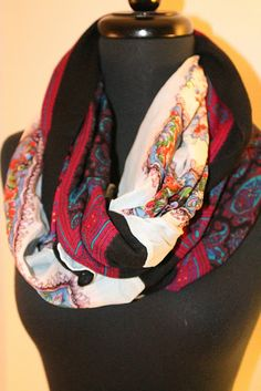DIY Vintage Infinity Scarf - OMG, duh! So doing this with all my silk scarves that I never wear bc they're too short.