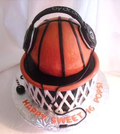 basketball sweet 16 cakes | made FRESH daily: Music and Basketball Birthday Cake!