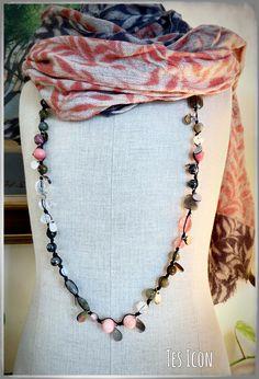Crochet Necklace, Beaded Necklace, Jewelry, Fashion, Tes, Crochet Collar, Beaded Collar, Jewellery Making, Jewlery