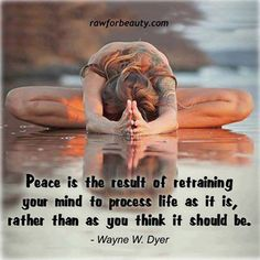 Wayne Dyer Quotes Peace Is the Result
