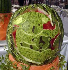 Koala watermelon ... maybe a jack-o-lantern idea