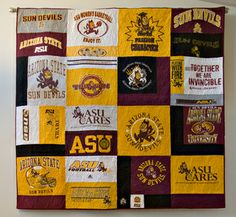 Quilt turns out to be a  Devil  of a project. im totally doing this with my  old ASU shirts van Paasschen-Chris Munson 1d32a865c