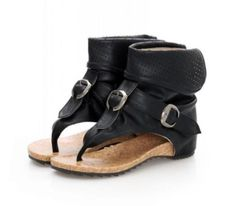 Flip Flops Roma Womens Buckle Gladiator Wedge Thong Sandals Ankle Shoes black 8 | Clothing, Shoes & Accessories, Women's Shoes, Sandals & Flip Flops | eBay!