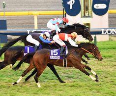 池添騎手が騎乗した4番人気のショウナンパンドラ(牝4)がゴール前で外から差し切って優勝。秋華賞に続いてG1・2勝目