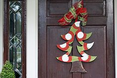 Wooden Christmas Tree Door Hanger..