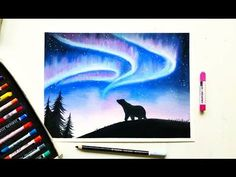 Drawing the Northern lights(Aurora borealis) with soft pastels | Leontine van vliet - YouTube