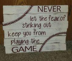 Baseball Decorative Board Rustic by JenniVanAusdall on Etsy, $45.00