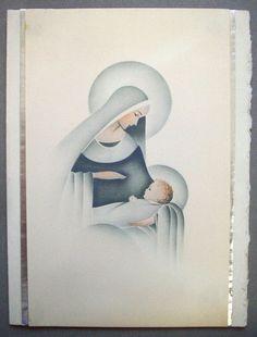 Sin Usar Mary Virgen Y El Niño Navidad Vintage Greeting Card * R | Objetos de colección, Papel, Tarjetas de saludo vintage | eBay!