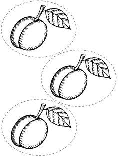 Kleurplaten Pruimen Het Fruit Kleurplaten On Pinterest Eten Apple Template
