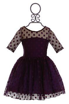 Five Loaves Two Fish Polka Dot Dress in Purple