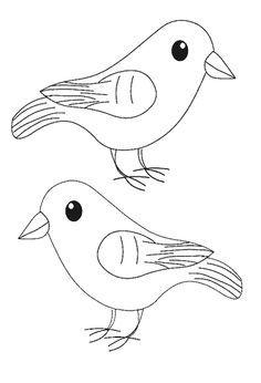 kleurplaat vogel eet - Google zoeken