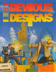 notablegamebox:  Devious Designs (1991) by Image Works for the Amiga. It totally looks like James Bond fighting Doc Brown from Back to the F...