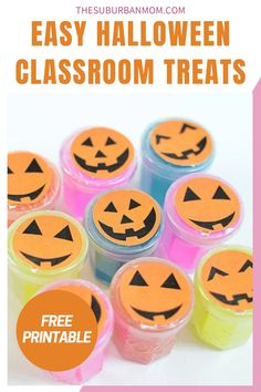 This festive craft idea is perfect for the back-to-school season and the spooky season as well! Super fun and unique, this preschooler craft is sooo cute, and I'm sure you'll agree. Check out the blog for more details on how to make these Easy Halloween Classroom Treats! They comes with free printables as well. This easy DIY craft will surely brighten up your kids day! With a choice of an edible Halloween treat or a more sensory activity experience, you can take your pick! #halloweencraftideas
