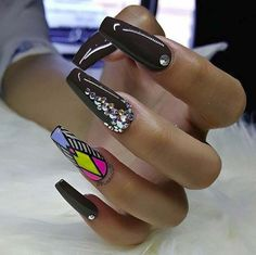 Nail Art Ideas For Coffin Nails - Flawless - Easy, Step-By-Step Design For Coffin Nails, Including Grey, Matte Black, And Great Bling For Instagram Ideas. Includes Everything From Kylie Jenner Ideas To Nailart For Short Nails, Long Nails, And Beautiful Shape And Colour Like Pink. Polish For Jade, Glitter, And Even Negative Space - http://thegoddess.com/nail-ideas-coffin-nails