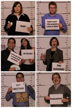 Mugshot photo wall for your Arrested Development party!