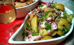 Recette italienne salade de poulpe, pommes de terre et oignon rouge