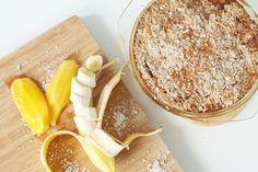 Baked Oatmeal mit Mango und Banane | fiteahlthydi