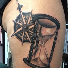 compass and hourglass tattoos | Categories: Tattoo