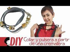 DIY: Collar y pulsera a partir de una cremallera