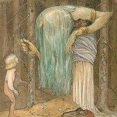 John Bauer, forest witch