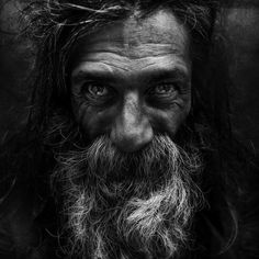 Manchester-based photographer Lee Jeffries first befriended homeless people before taking their portraits.