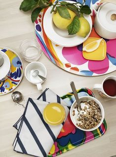 marimekko karuselli tray colourful tableware and trays on The Life Creative Marimekko, Tapas, Trendy Colors, Home Decor Items, Scandinavian Design, Hygge, Printing On Fabric, Dinnerware, Home Accessories