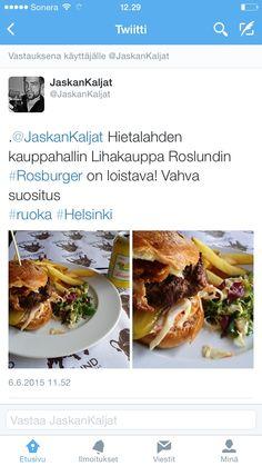 Digitaalisuuden mahdollistamaa suositusten jakamista. Bloggaaja mainostaa ravintolaa Twitterissä.