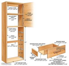 diy freestanding pantry with pullout drawers #tutorialtuesday - i