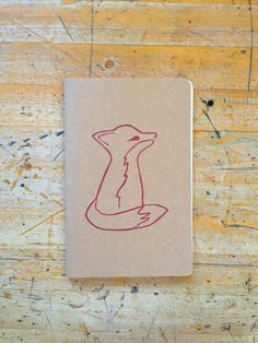 Notebook Fox Journal Red Kraft Christmas by ordinaryartists, $12.00
