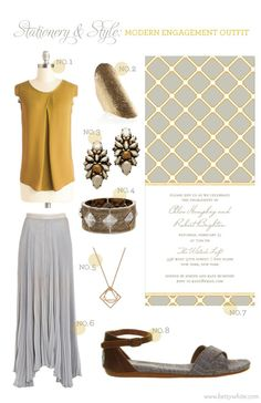 Stationery + Style: Modern Engagement Outfit