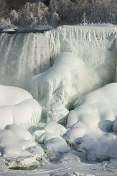2015 Feb. Niagra frozen on the surface.