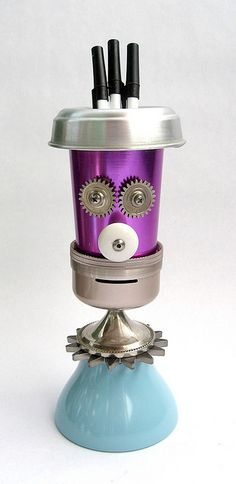 Stilo 480- Found Object Robot Assemblage Sculpture by Brian Marshall by adopt-a-bot, via Flickr