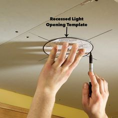 Add drama and beauty with this easy-to-build soffit lighting system and well-placed lighting. This is the ultimate improvement for ordinary ceilings. Diy Household Tips, Cleaning Tips, Soffit Ideas, Installing Recessed Lighting, Three Way Switch, Diy Wood Wall, Wood Trim, Home Repair, Home Lighting