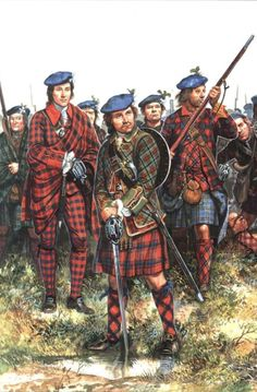 Clansmen before the Battle of Culloden