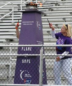 Relay flame of hope! Oh, this gives me ideas... What if it was lit by a survivor???