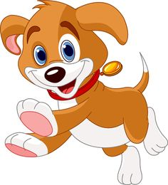 Cute cartoon dog vector set