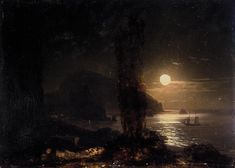 Ivan Aivazovsky - Moon over the Ayu-Dag