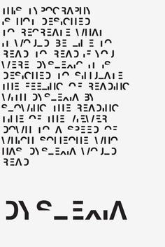 Designer Creates A Font That Emulates The Frustrations Of Dyslexia